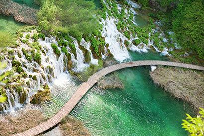 Plitvické jazerá Chorvátsko