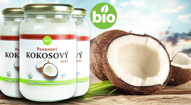 BIO panenský kokosový olej - 502 ml na varenie, pečenie a starostlivosť o telo a vlasy