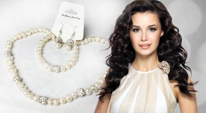Set šperkov z pravých sladkovodných perál | ZaMenej.sk