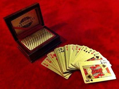 Luxusné zlaté pokrové karty