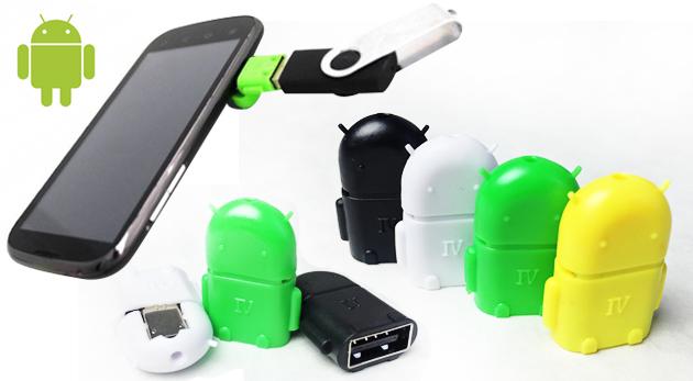 Fotka zľavy: Uľahčite si život so šikovným USB OTG adaptérom na systém Android len za 2,40 €. Pripojte si k vášmu tabletu či smartphonu klávesnicu, myš či USB kľúč! Na výber v 4 farbách.