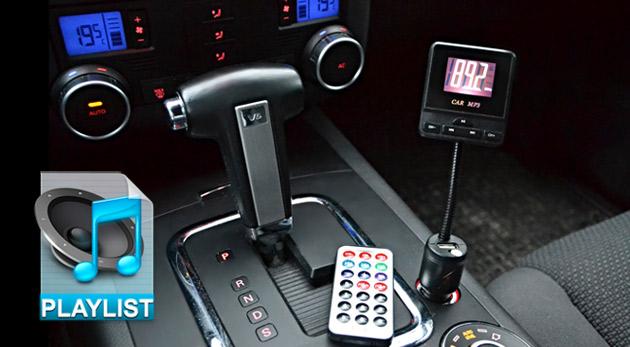 FM Transmitter - bezdrôtový MP3 prehrávač do auta