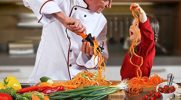 Špirálová fréza Vegetti - popusťte uzdu vašej fantázii pri príprave zeleniny