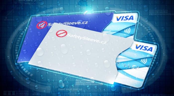 Bezpečnostný obal na bezkontaktnú kreditku