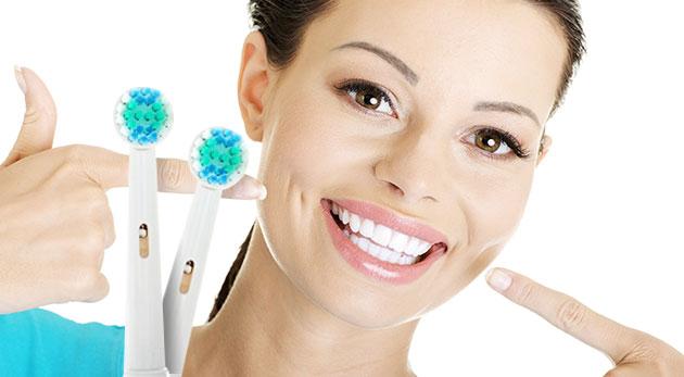 Štyri náhradné hlavice na elektrickú kefku Braun pre kvalitnú starostlivosť o zuby