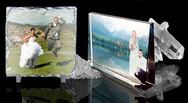 Fotokryštál 3 okruhlého tvaru - mnohohran na podstavci, priemer 7,5 cm, výška s podstavcom 9 cm za 11,30€