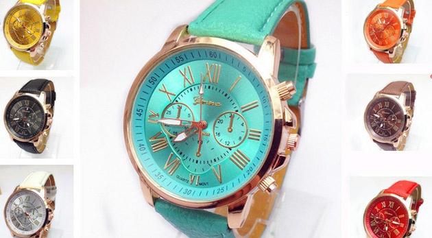 Dámske hodinky Geneva s kvalitným strojčekom Quartz