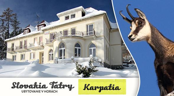 Tatry na dlani, lyžovačka snov - vychutnajte si zimu v penzióne KARPATIA.
