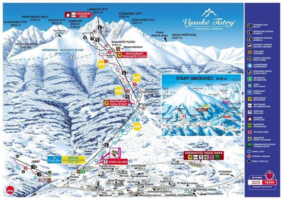 Mapa Vlekov Vysoke Tatry