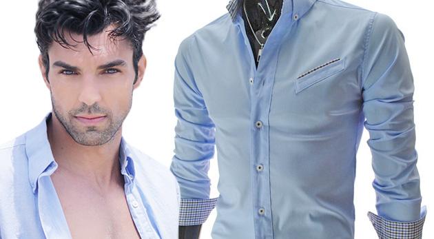 Sexi pánska slim-fit košeľa pre zvýraznenie vašich mužských predností
