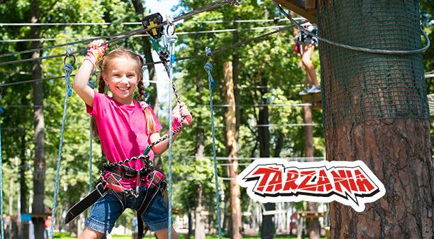 Skvelá zábava a adrenalín pre deti aj dospelých v lanovom parku Tarzánia Skalica