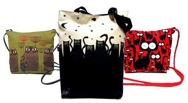 Jedinečné dámske dizajnové tašky vo viacerých motívoch a dvoch rozmeroch