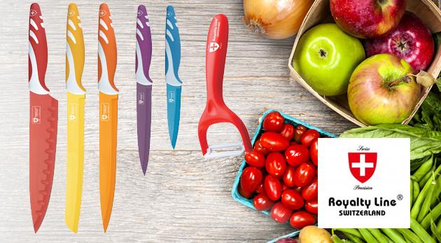 Sada troch alebo piatich nožov švajčiarskej kvality s keramickým povrchom