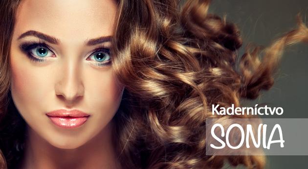 Strih, regeneračná kúra alebo nová farba vlasov v kaderníckom salóne SONIA v Prievidzi