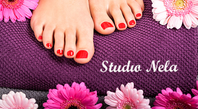 Krásne gélové nechty na nohách v Štúdiu Nela v Bratislave