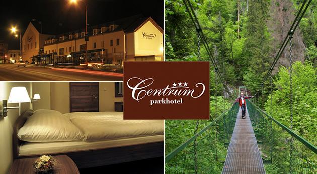 Oddych v Parkhoteli Centrum*** v centre Spišskej Novej Vsi a blízko Slovenského raja