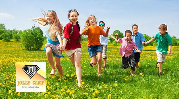 Denný tábor Jolly Camp pre deti počas letných prázdnin s celodenným programom, stravou a vstupným na výlety