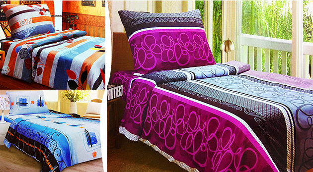 Farebné 100 % bavlnené obliečky na posteľ v 10 rôznych vzoroch