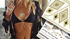 Zľava 51%: Vyskúšajte hit tohto leta - štýlové šperky v podobe metalických tetovačiek už od 2,90 €. Tetovanie je vhodné na pláž, k bazénu, na večierky či koncerty, proste všade tam, kde chcete byť videné.