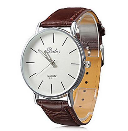 Pánske hodinky Quartz DALAS F 011 s hnedým remienkom