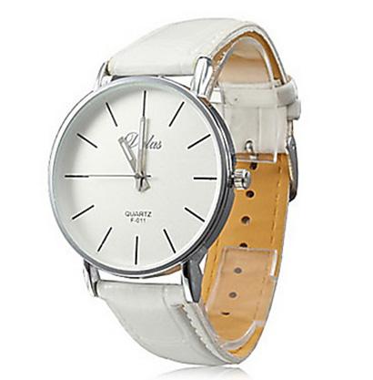 Pánske hodinky Quartz DALAS F 011 s bielym remienkom