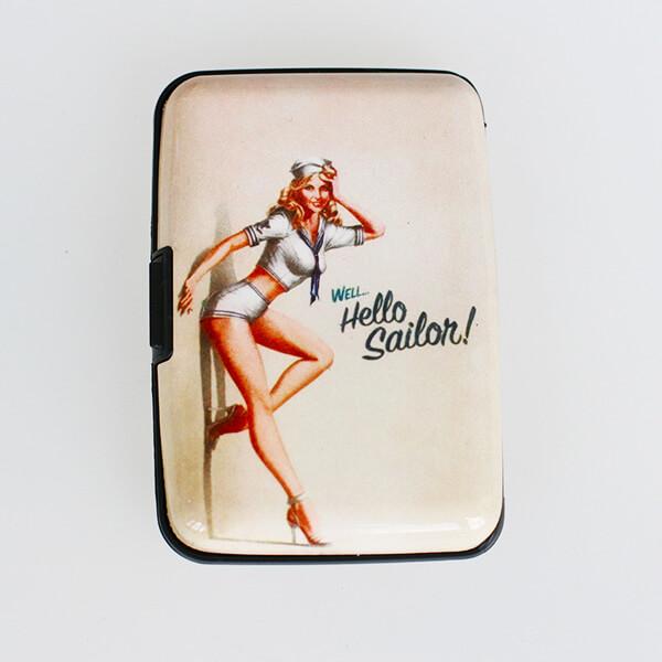 Alumíniové púzdro na doklady - Vintage Hello Sailor!