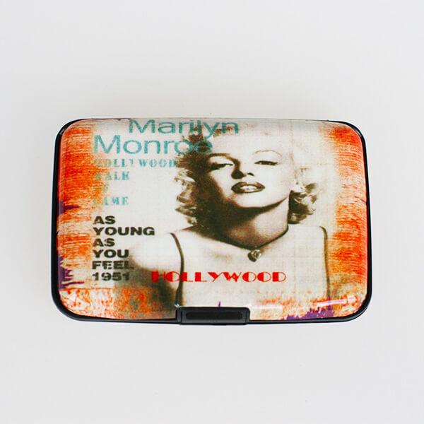 Alumíniové púzdro na doklady - Vintage Marilyn Monroe