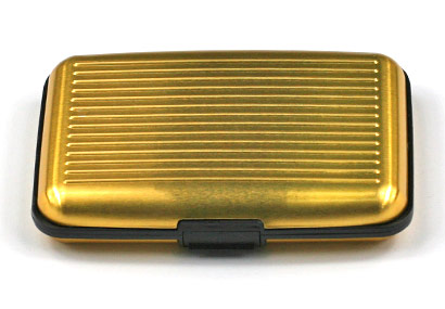 Alumíniové púzdro na doklady - zlaté