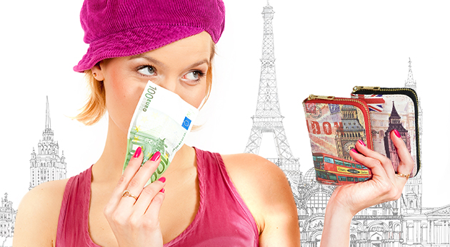 Dámske farebné peňaženky s viacerými priehradkami a kapsičkami - 6 druhov