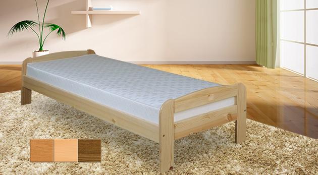 643e8739049d Kvalitná jednolôžková posteľ z masívu a s roštom - na výber i variant s  matracom