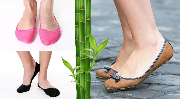 Farebné bambusové ponožky do balerínok - 12 párov v balení