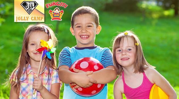 Letný denný tábor Jolly Camp vo FunCity pre deti počas prázdnin - celodenný program, strava a výlety v cene
