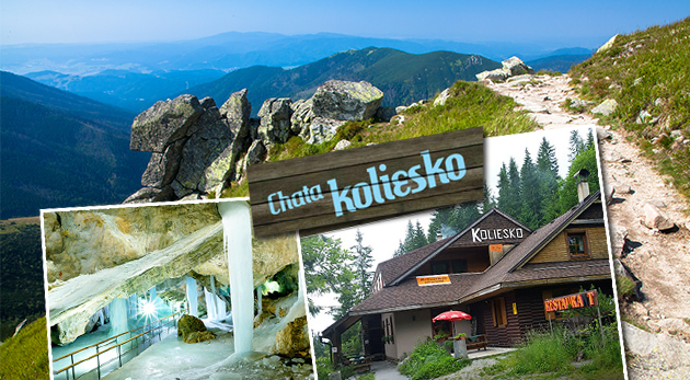 Chata Koliesko pod Chopkom - zaslúžený oddych a turistika v Nízkych Tatrách
