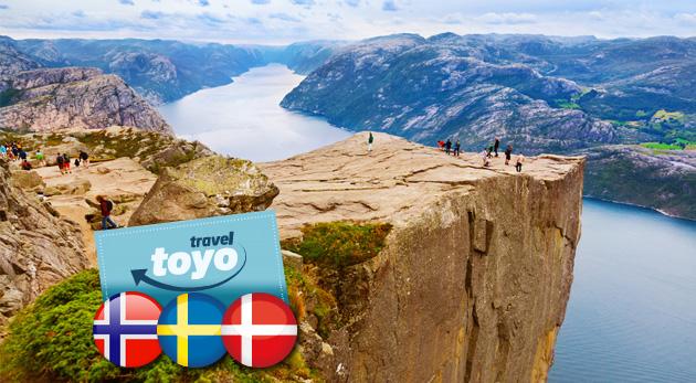 8-dňový autobusový zájazd do Škandinávie uprostred leta s CK Toyo Travel
