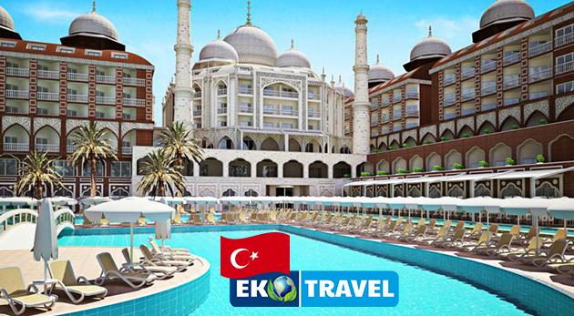 Letecký 8-dňový zájazd do luxusného hotela Royal Taj Mahal***** na Tureckej riviére s ULTRA ALL INCLUSIVE