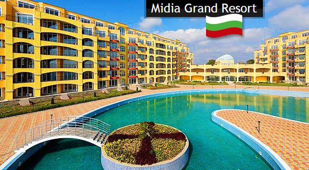 Super leto v apartmánoch Midia Grand Resort v Bulharsku (cena za 2 osoby, príp. 3. osoba grátis)