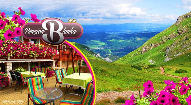 Letný relax v Penzióne Blanka** v malebnej obci Ždiar pod vrcholmi Belianskych Tatier pre 2 osoby s polpenziou
