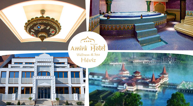 Relaxačný wellness pobyt v luxusnom maďarskom Hoteli AMIRA**** v orientálnom štýle pri jazere Hévíz
