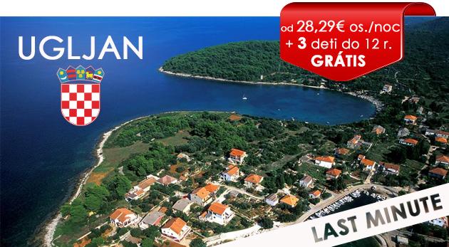 LAST MINUTE dovolenka v Chorvátsku v Hoteli Ugljan priamo na pláži pre 2 osoby a až 3 deti do 12 rokov zadarmo!