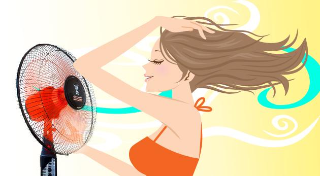 Stojanový ventilátor s 3 rýchlosťami, nastaviteľnou výškou a otáčaním