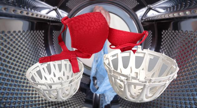 Praktický košík na ochranu podprseniek a jemného prádla pri praní