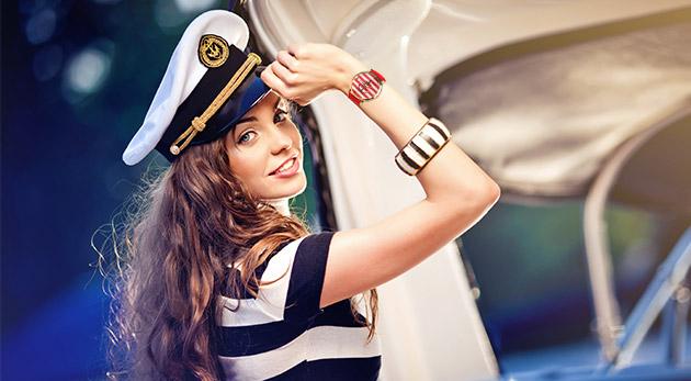Dámske hodinky v námorníckom štýle v 5 farbách