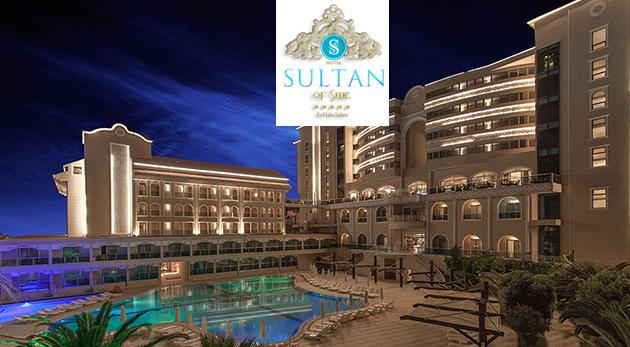 8 dní v Turecku v hoteli Sultan of Side***** s ALL INCLUSIVE