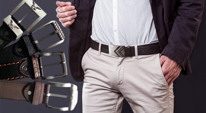 Fotka zľavy: Kvalitné pánske kožené opasky