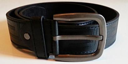 Pánsky kožený opasok s oceľovou prackou - model J