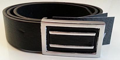 Pánsky kožený opasok s oceľovou prackou - model O