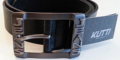 Pánsky kožený opasok s oceľovou prackou - model P