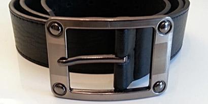Pánsky kožený opasok s oceľovou prackou - model R