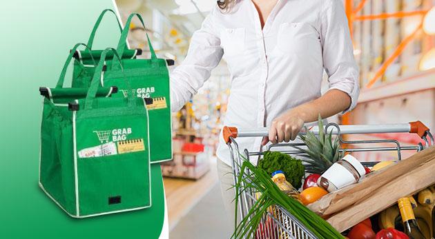 Praktické nákupné tašky s možnosťou prichytenia na košík - 2 ks v balení