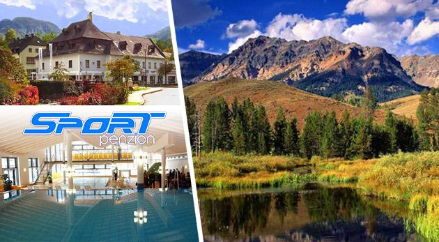 Spoznajte nádhernú prírodu rakúskych Álp - ubytovanie v českom komfortnom Penzióne Sport Alpy